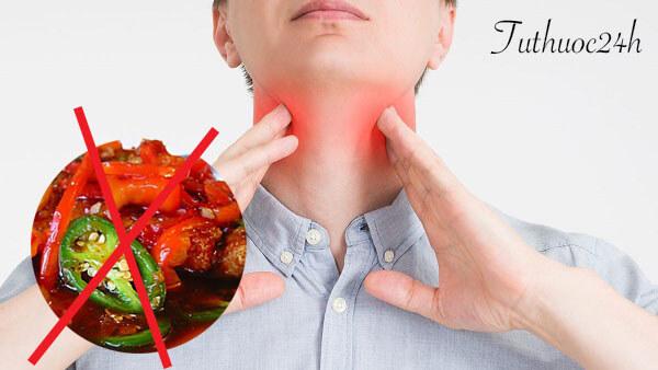 Người bị viêm amidan kiêng ăn gì để khắc phục bệnh nhanh chóng?