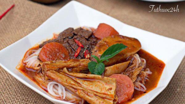 Cách nấu bò kho chay thay đổi thực đơn ngày rằm thêm phong phú tròn vị