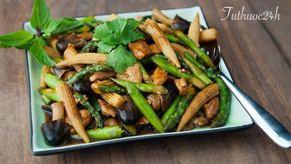Học cách làm món măng tây xào chay giúp bữa cơm chay phong phú hơn