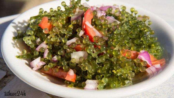 Cách làm Salad rong nho đẹp da, giữ dáng