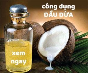 Tác dụng dầu dừa trong làm đẹp