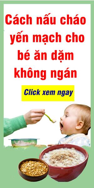 Cháo yến mạch cho bé