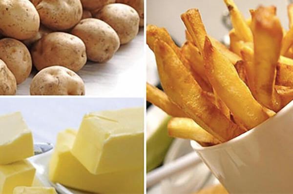 nguyên liệu làm khoai tây chiên bơ
