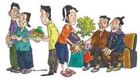 Cấm hoặc xúc phạm vợ không cho về ăn Tết bên ngoại sẽ bị phạt