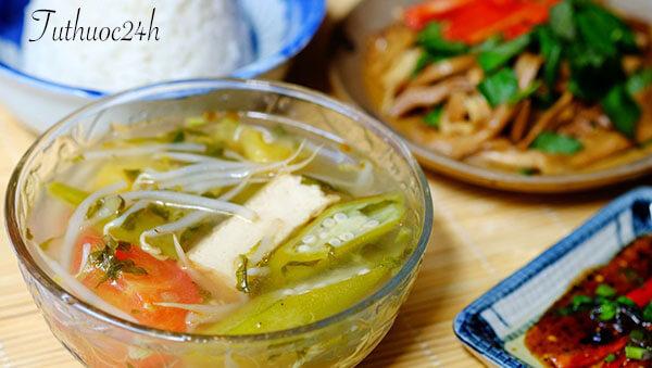 Canh chua chay - món chay ngon thanh đạm trong từng bữa ăn