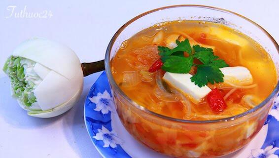 Cách chế biến món canh kim chi chay ngon, đưa cơm trong mỗi bữa ăn