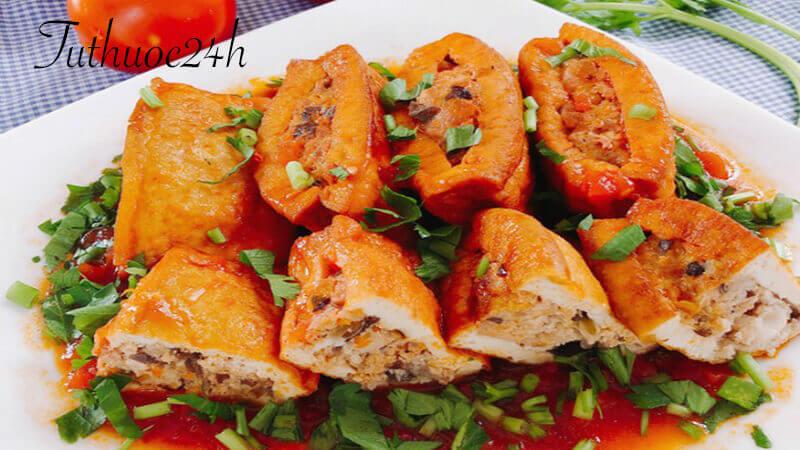 Cách làm đậu hũ nhồi thịt sốt cà chua ngon tuyệt hảo cho cả gia đình