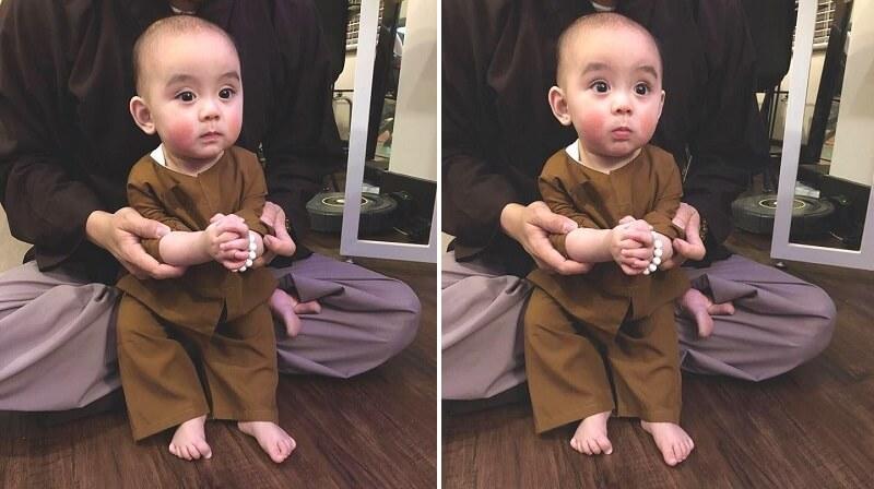 Em bé Việt kiều 7 tháng tuổi ăn chay trường hai má hồng hồng đáng yêu