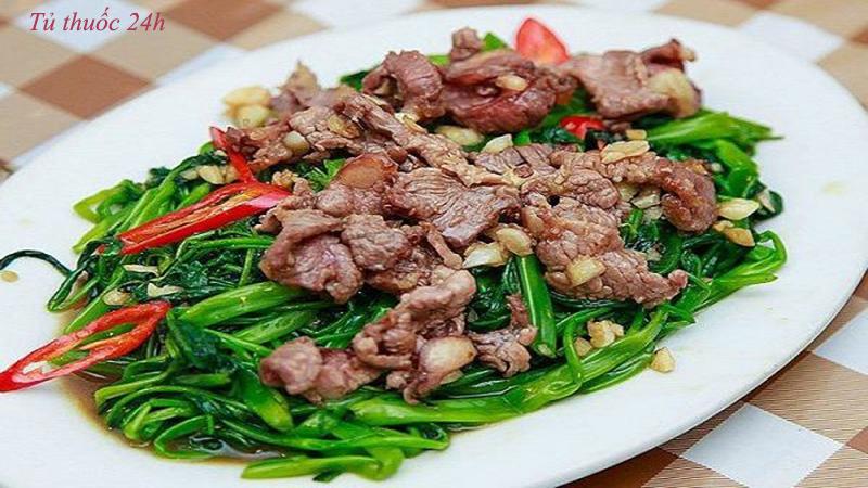Cách làm món thịt trâu xào rau muống khiến gia đình bạn ăn là ghiền